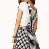 Houndstooth Overall Dress | FOREVER 21 - 2000076072