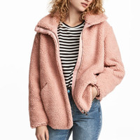 Pile jacket - Powder pink - Ladies | H&M GB