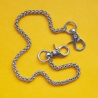 Braided Metal Pocket Chain