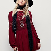 Free People Womens Pieced With Lace Mini Dress