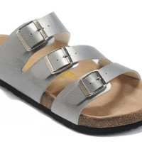 Birkenstock Orlando Sandals Leather Silvers