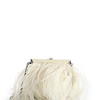 Ralph Lauren Collection - Feather & Snakeskin Clutch - Saks Fifth Avenue Mobile