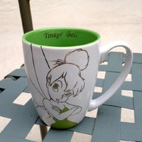 Disney Tinkerbell White and Green Mug