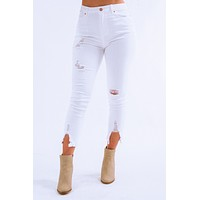 Can't Go Wrong Jeans: White