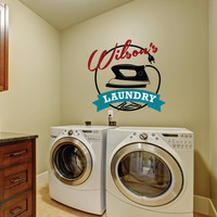 Personalized Laundry Sign, Laundry Wall Decal,  Laundry Decor, Laundry Art, Laundry Sign, Laundry Room Decal, Laundry Room Sticker