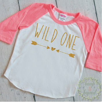 Wild One Shirt Girl First Birthday Shirt Baby Girl Clothes 1st Birthday Shirt Wild One Birthday 199
