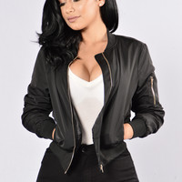 Rock the Boat Jacket - Black