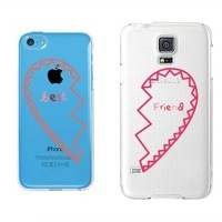 BFF Clear Best Friend Matching Phone Cases - 365 Printing Inc