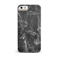 Smooth Black Marble iPhone 5/5S/SE INK-Fuzed Case