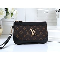LV 2019 new women's classic old flower retro zip wallet #3