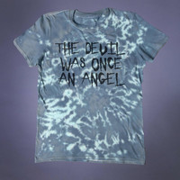 Sinner Devil Shirt The Devil Was Once An Angel Slogan Tee Evil Satan Satanism Grunge Alternative Clothing Goth Occult Tumblr T-shirt