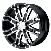 """Helo HE835 Gloss Black Wheel With Machined Face (17x8""""/6x139.7mm, 0mm offset)"""