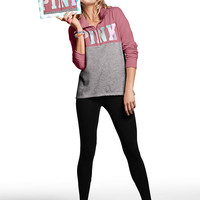 High/Low Half-Zip & Campus Legging Gift Set - PINK - Victoria's Secret