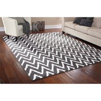 Mainstays Distressed Zig Zag Area Rug - Walmart.com