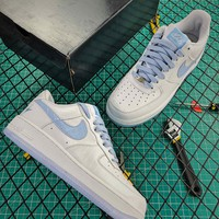 Ladainian Tomlinson X Nike Air Force 1 White Blue Sport Shoes - Best Online Sale