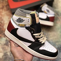 AJ1 AIR JORDAN 1 x UNION joint high-top sports basketball shoes