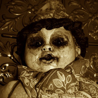 Creepy Doll Photography Zombies Horror Demonic Freak Monsters Halloween Ghouli  Frightening Weird Odd Horible Awful Scary Milky Clown