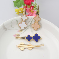 1PC New Double Cross  Hairpins Women Hair Accessories Delicate Flower Barrette Pins For Women &Girls Bridal Hair Jewelry