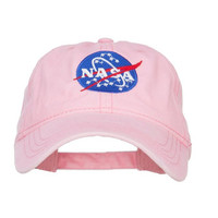NASA Pastel Pink Baseball Hat : Vintage, 90s, Grunge, Vintage Hat, Dad Hat, Grunge Fashion, 90s Accessories, Acid Washed Hat