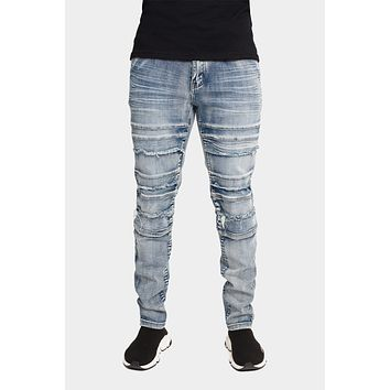 Stacked Acid Wash Jeans