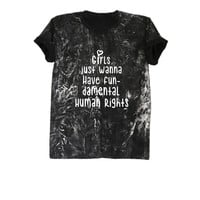 Teen girl shirt hippie grunge t shirt clothing bleached tee shirts apparel tumblr instagram clothes womens rights shirt size XS S M L