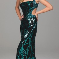 Evenings by Allure Sequined Dress A529 - $438