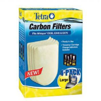 Tetra Carbon Filters for Whisper EX30 45 70 4 pack
