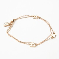 TRIANGLE THREAT DOUBLE CHAIN BRACELET