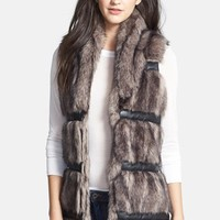 Buffalo by David Bitton Faux Fur Vest with Faux Leather