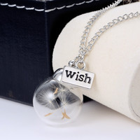 Glass Orb Wishing Necklace
