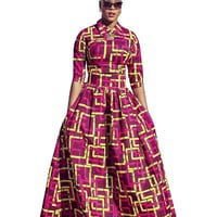 Basin Red Yellow African Traditional Dress