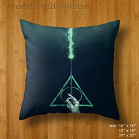 Decorative cushion Cool Harry Potter Magic wand Double Side Pillow Case cover 16 18 20 inch by ThreeSecond2014