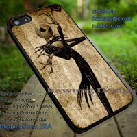 Skull and Bone Jack Skellington iPhone 6s 6 6s+ 5c 5s Cases Samsung Galaxy s5 s6 Edge+ NOTE 5 4 3 #cartoon #animated #NightmareBeforeChristmas DOP489