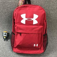 Under Armour New fashion letter print backpack bag book bag backpack bag Red