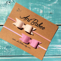 Felt Bow Headband, Baby Headband Set, Pink Bow Headband, Felt Bows, Bow Headband