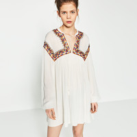 FULL EMBROIDERED DRESS