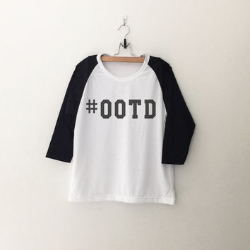 OOTD Hashtag T-Shirt womens girls teens unisex grunge tumblr instagram blogger punk dope swag hype hipster gifts merch