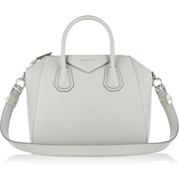 Givenchy - Small Antigona bag in gray textured-leather