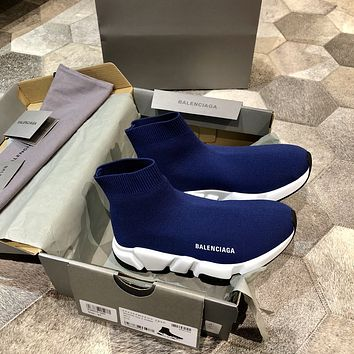 Balenciaga Men's And Women's 2021 NEW ARRIVALS Flyknit Sock Sneakers Shoes