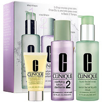 3-Step Skin Care System For Skin Type 2 Dry to Dry Combination Skin - CLINIQUE | Sephora