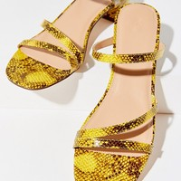 UO Claudia Faux Snakeskin Sandal | Urban Outfitters