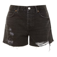 MOTO ASHLEY Rip Boyfriend Denim Shorts - Clothing