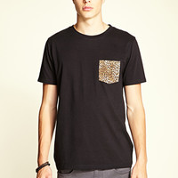 Leopard Pocket Tee Black/Brown