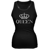 Queen Black Soft Juniors Tank Top