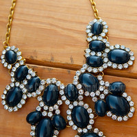 THE DIANA NECKLACE IN NAVY