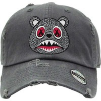 ELEPHANT BAWS Char Grey Dad Hat - Jordan 3 Cement