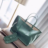 Goyard Women Leather Shoulder Bag Satchel Tote Bag Handbag Shopping Leather Tote Crossbody Satchel Shouder Bag
