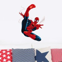 Cartoon Spiderman Wall Stickers for Kids Rooms children room Wall decals Home Decor wallpaper Mural gift christmas decoration