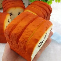 1 Kawaii Jumbo Toast Squishy Expression Card Cellphone Holder Hand Pillow