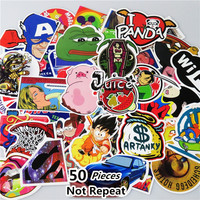50 PCS Stickers Mixed Home Decor Toy Phone Skateboard Waterproof DIY Decal Luggage Laptop Car Styling JDM Doodle Funny Sticker